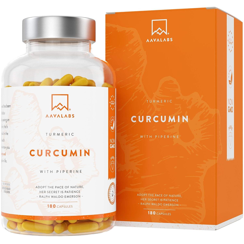 Integratore di Curcumina di Curcuma | 95% di Estratto di Curcumina e Piperina