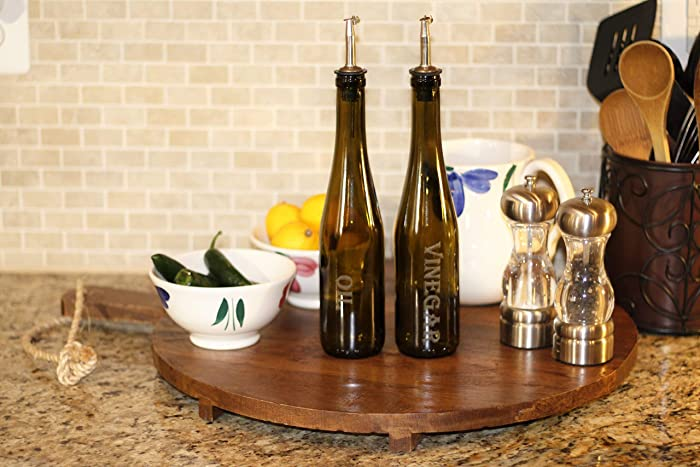 Amazoncom Vintage Green Wine Bottle Oil And Vinegar Set Kitchen