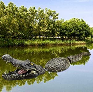 Floating Crocodile Decoy Pond Goose Duck Control Fake Alligator Head Spoof Toy for Garden or Pond Art Decor (Style A, 1PCS)