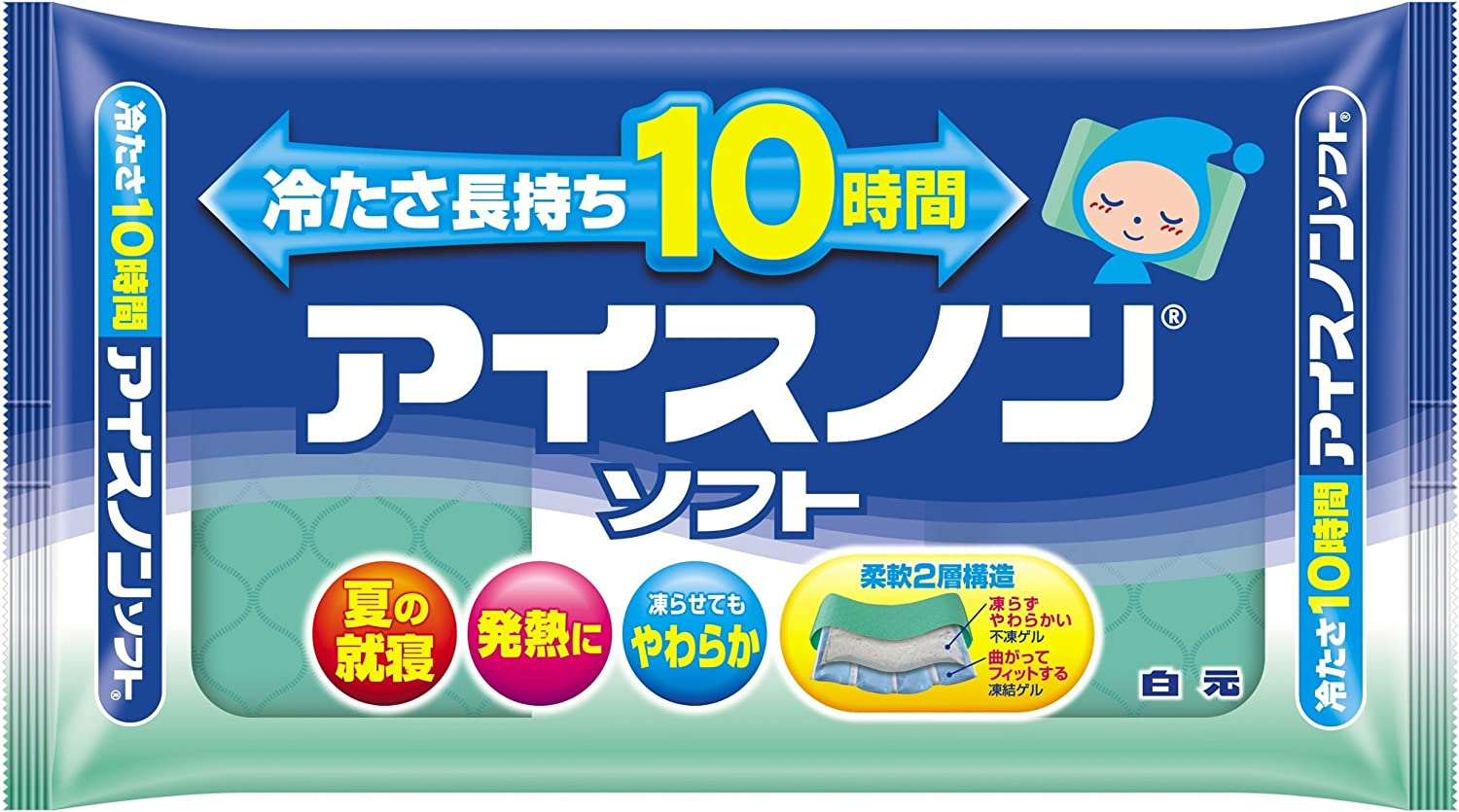 Ice Non Cooling Pad Pillow Soft Type - 1 pc by Hakugen