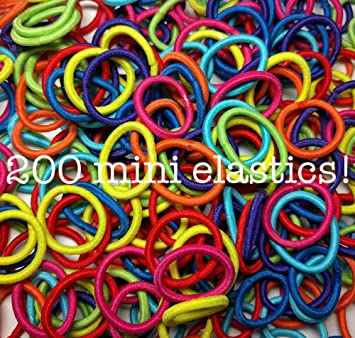 Amazon.com   200 Mini Hair Elastics f24852febe9
