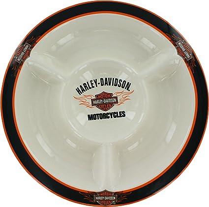 Harley-Davidson Flame Logo Chip \u0026 Dip Plate  sc 1 st  Amazon.com & Amazon.com   Harley-Davidson Flame Logo Chip \u0026 Dip Plate: Serving ...