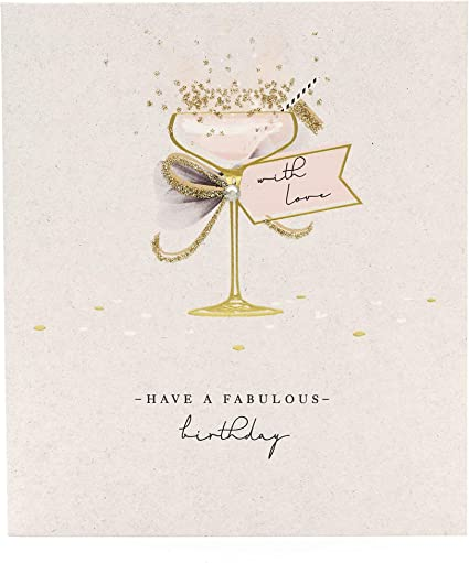 Birthday Card For Her Friend Birthday Card Elegant Cocktail Design Amazon Co Uk Office Products