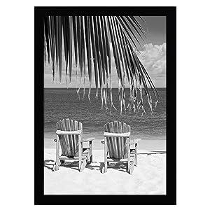Americanflat 13x19 Black Poster Frame - Shatter-Resistant Glass - Hanging Hardware Included
