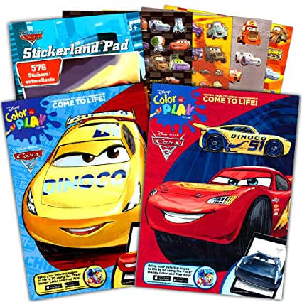 Amazon.com: Disney Cars Coloring Book Set (2 Books Featuring ...