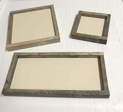 amazon com framed farmhouse rustic distressed wood sign blanks