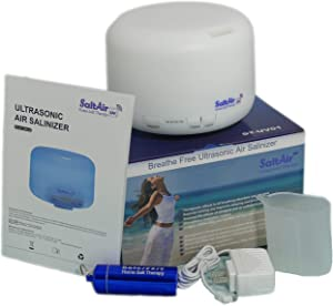 SaltAir UV - Home Salt Therapy - Lot 0720-20 - Helps You Breath and Sleep Better Naturally - Asthma, Bronchitis, COPD, Cystic Fibrosis, Snoring and Other Lungs & Breathing Conditions