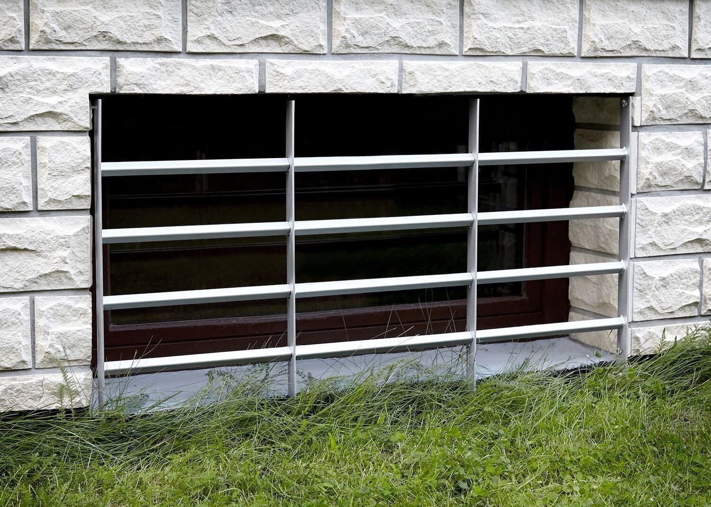 f/ür Fenster mit 2 Querbalken 500-650mm Einstellbares Stahlgitter Fenster Gitter Sicherheitsgitter verzinkter Stahl fenstersicherung Fenstergitter einbruchschutz Galapara Fenstergitter