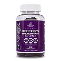 SCIENCE BACKED NATURALS Elderberry Gummies with Zinc and Vitamin C - 200 mG - 60 Immune Support Gummies for Adults and Kids - Made with Natural Ingredients - Elderberry Herbal Supplements