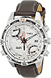 Timex Intelligent Quartz Men's Flyback Chronograph Compass Watch with Dial Chronograph Display and Brown Leather - T49866
