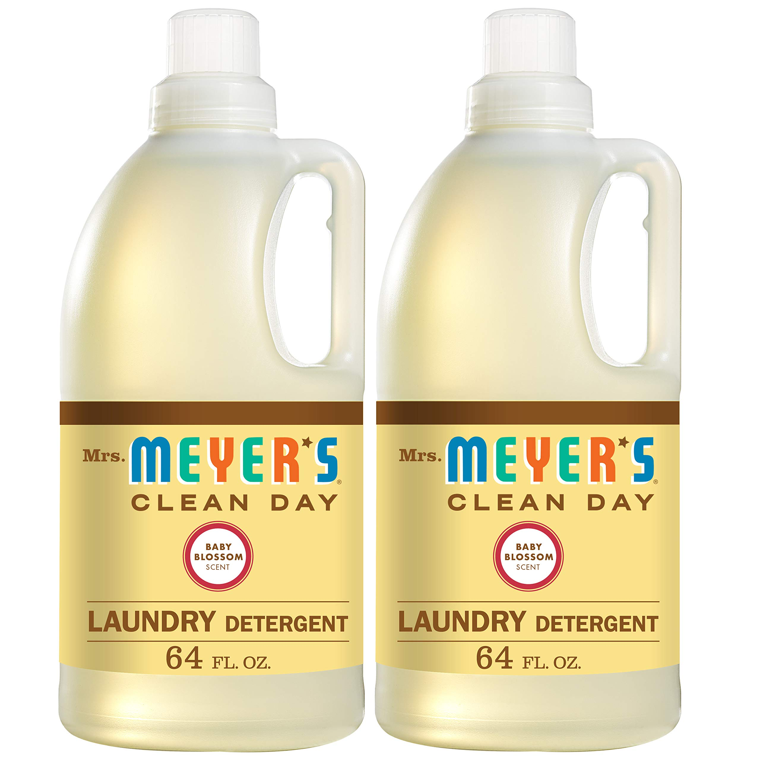 Mrs. Meyer's Laundry Detergent, Baby Blossom, 64 fl oz (2 ct) by Mrs. Meyer's Clean Day (Image #1)