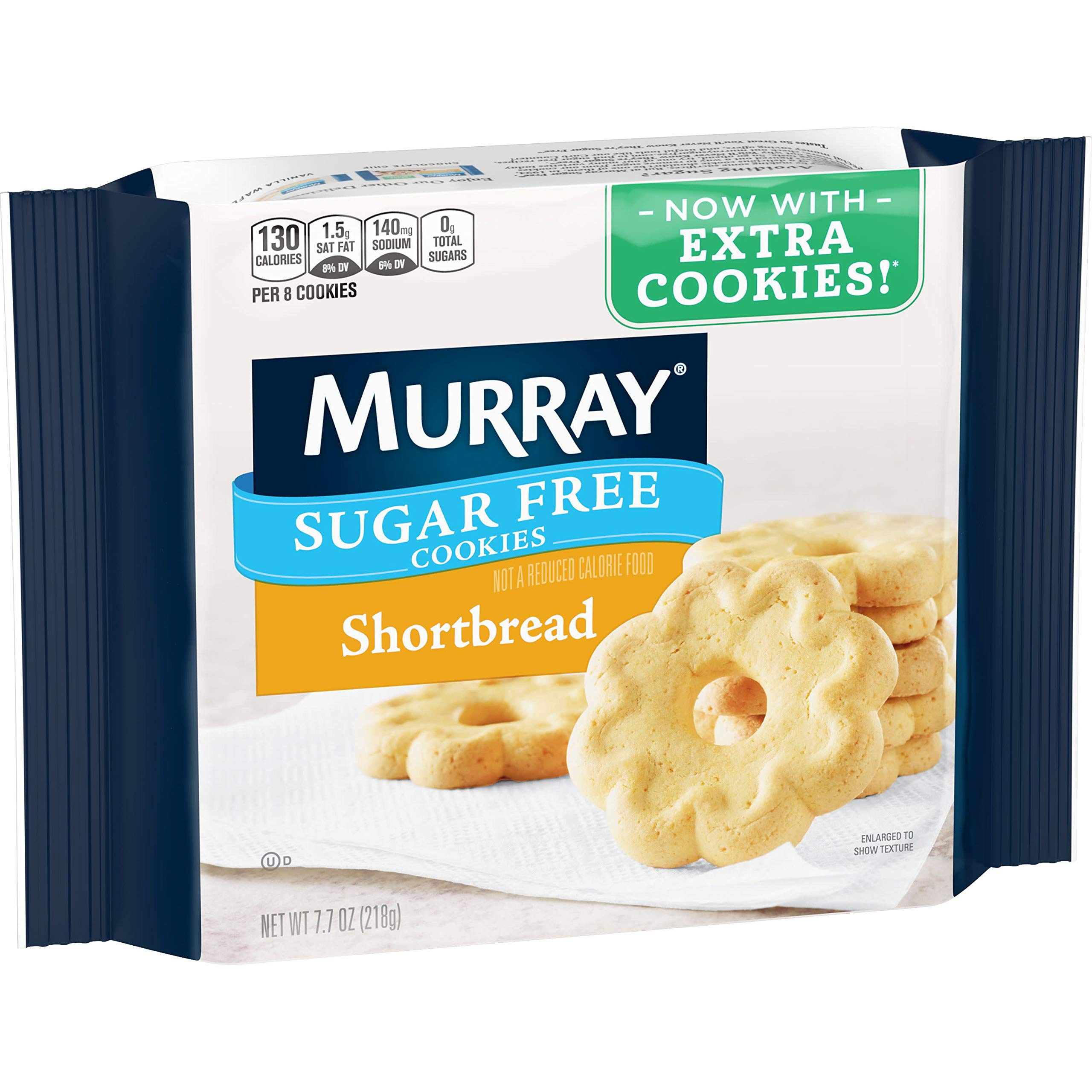 Murray Sugar Free Cookies, Shortbread, 7.7 oz Tray(Pack of 12) by Murray (Image #1)
