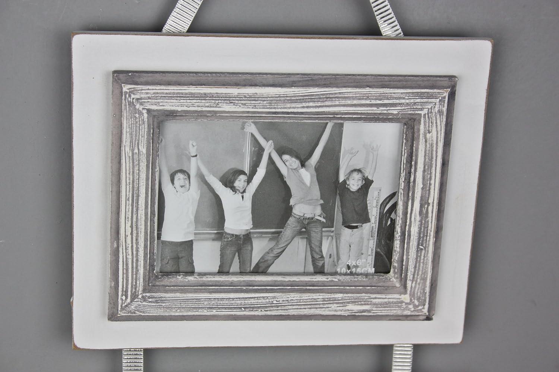 elbmöbel Bilderrahmen in weiß antik Collage aus Holz Shabby Chick ...