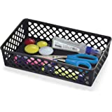 Officemate OIC Achieva Large Supply Basket, Pack of 2, Recycled, Black (26202)