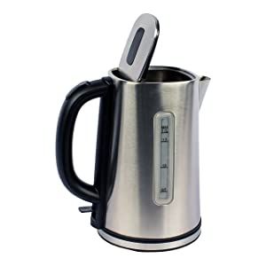 Magic Chef MCSK17SS Electric Kettle 6.1X 8.8 X9.5, Stainless Steel