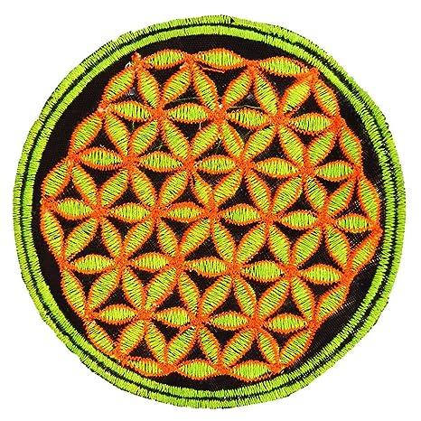 Flor de la vida parche ImZauberwald full Fluro con la geometría ...