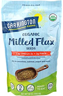 Semilla de lino fresado orgánico, sin gluten, USDA orgánico ...