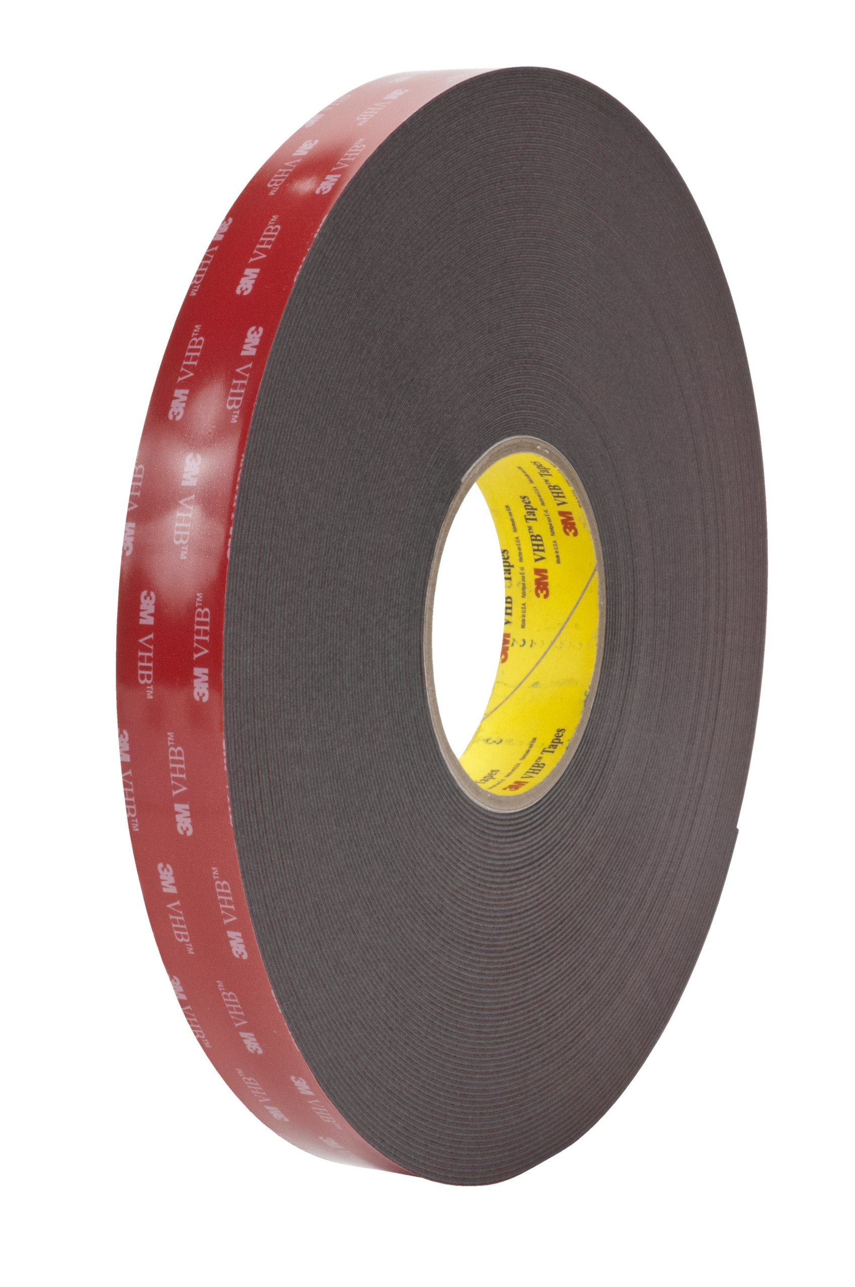 3M VHB Tape 5952 Black Small Pack, 3/4 in x 36 yd 45.0 mil (Case of 3)
