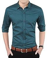 Romano Men's Full Sleeve Casual Green Shirt