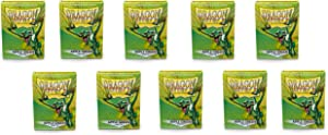 10 Packs Dragon Shield Matte Apple Green Standard Size 100 ct Card Sleeves Display Case