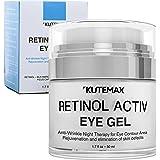 Retinol Under Eye Gel - Combo Eye Cream for Dark Circles, Eye Puffiness , Crows Feet, Eye Bags, Fine Lines – Organic Anti-Aging Wrinkle Cream – 1.7 fl oz / 50 ml