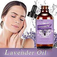 Olio di lavanda 118 ml, MANSI 100% puro e naturale non diluito oli essenziali biologici, olio per massaggi e olio profumato per aromaterapia, massaggio, aiuto per il sonno.