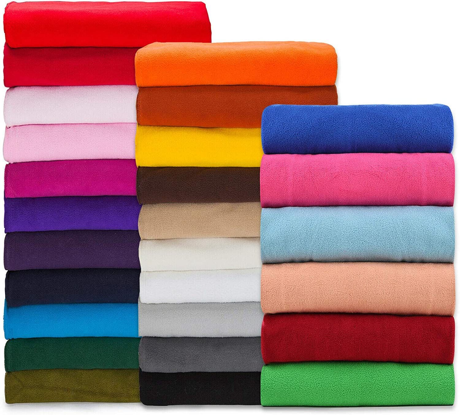 Polar Fleece Fabric,Quality Material,International Approved Test Report for Anti Pill Finish. 27 Fashion Colors,Medium 320Grams Weight. PlushPile,Garments,Home Décor,Crafts (Purple ½ M)