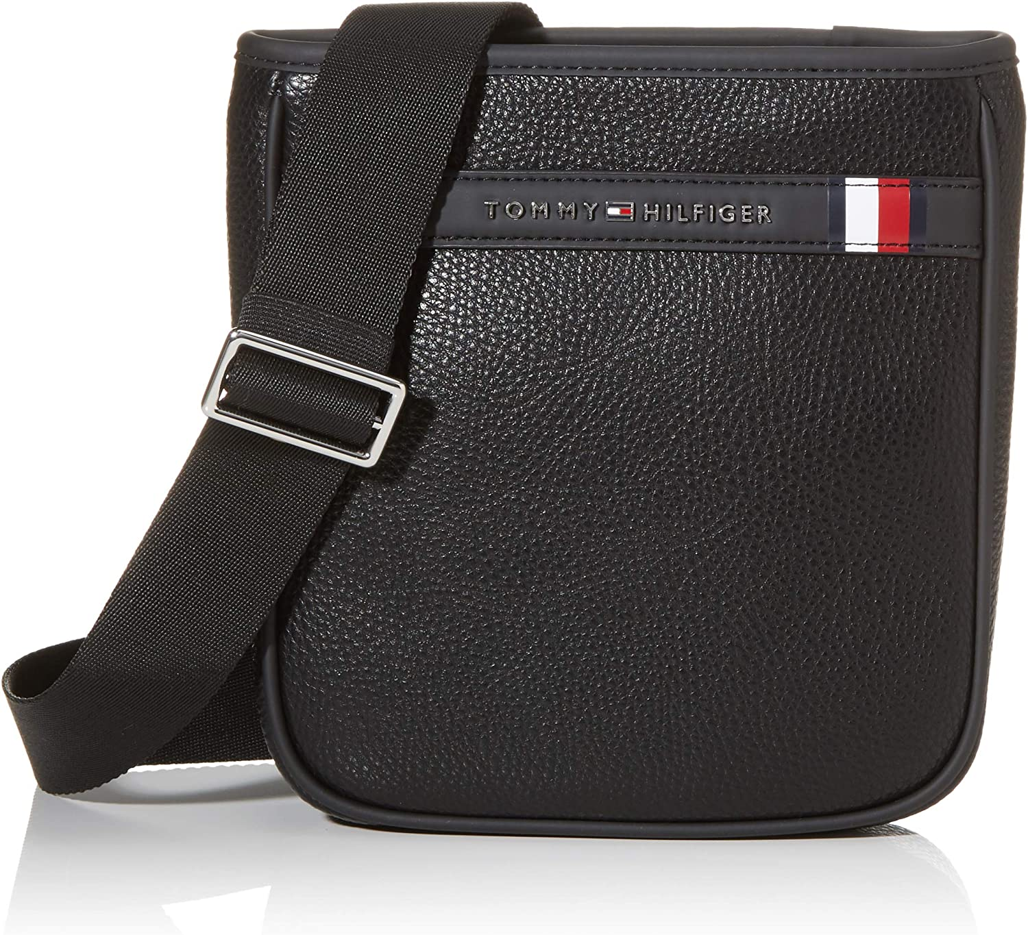 Tommy Hilfiger - Th Downtown Mini Crossover, Bolso bandolera Hombre, Negro (Black), 1x1x1 cm (W x H L)