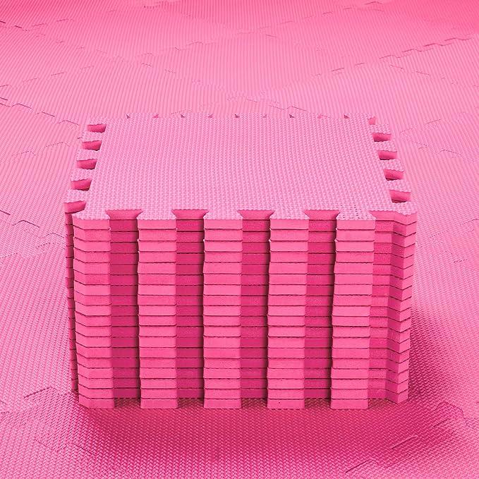 qqpp Alfombra Puzzle para Niños Bebe Infantil - Suelo de Goma EVA Suave. 18 Piezas (30*30*1cm), Rojo.QQC-Ib18N