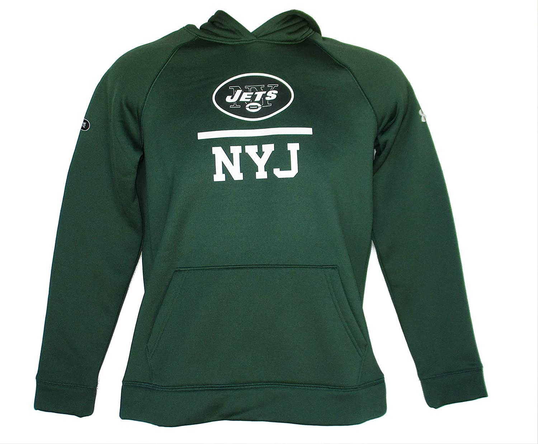 Green NFL Team Apparel York Jets Youth Large Hooded Sweatshirt