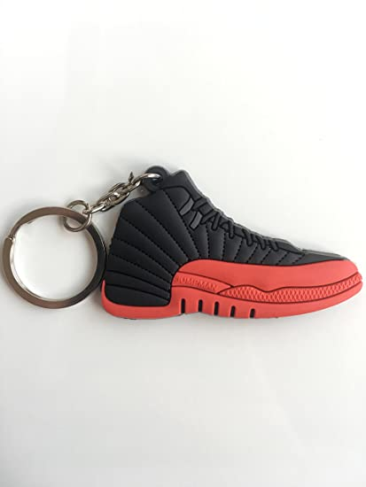 info for f927f ef11b Amazon.com : Jordan Retro 12 Flu Game Sneaker Keychain Shoes ...