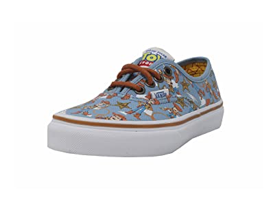 Amazon Com Vans Boys Authentic Shoes Woody Blue Disney Pixar Toy