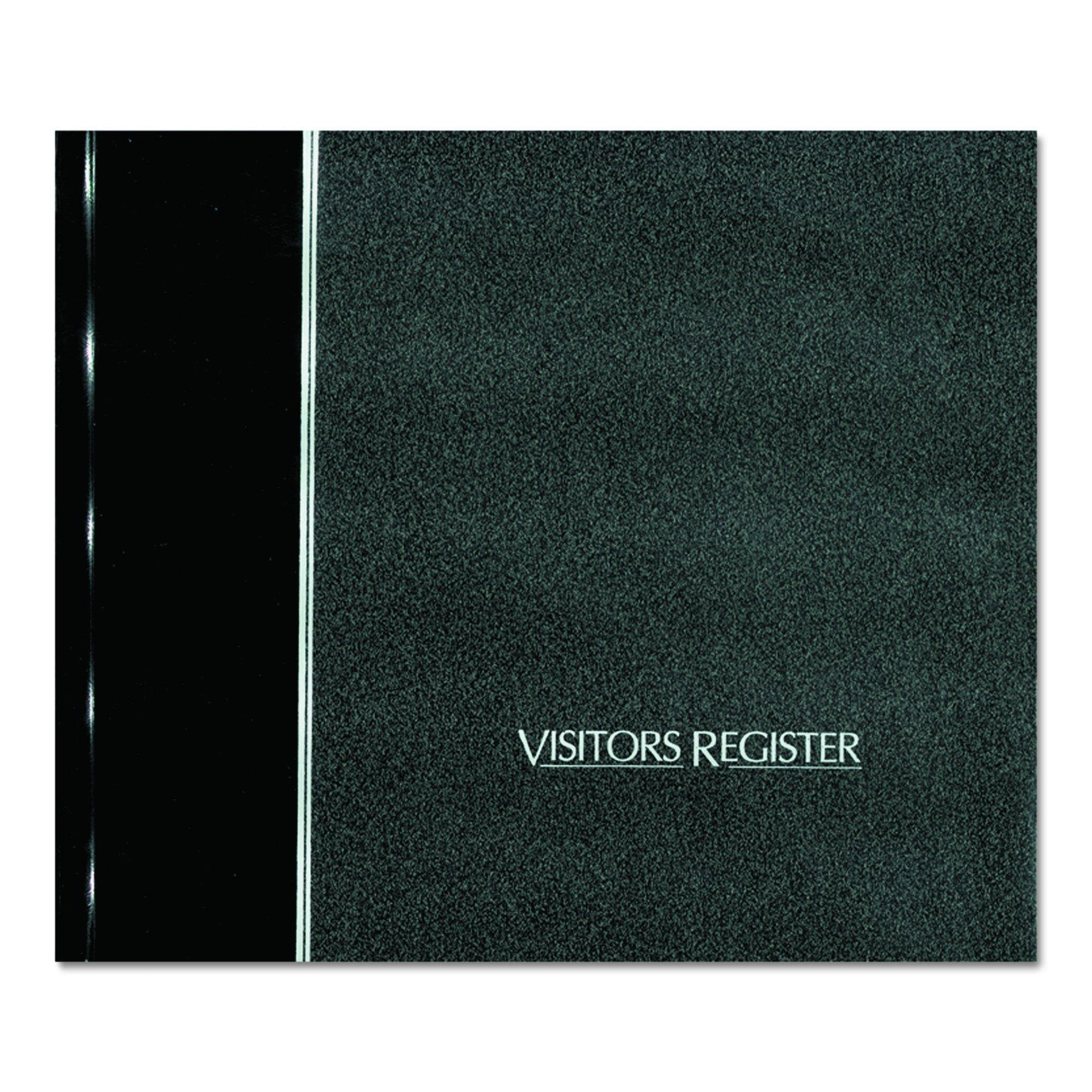 NATIONAL Visitor's Register Book, Black, 8.5'' x 9.875'' 64 Sheets (57802)