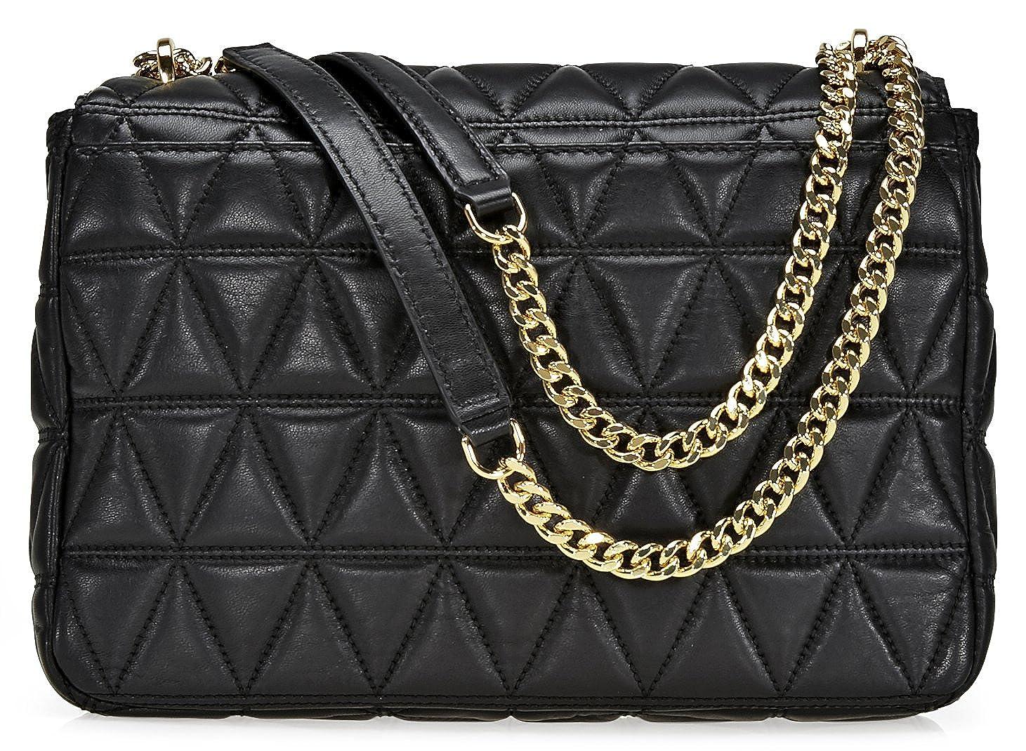 5167b89ee12f Michael Kors Sloan Extra Large Leather Quilted - Shoulder Bag - Black -  30S7GSLL4L-001  Amazon.de  Schuhe   Handtaschen