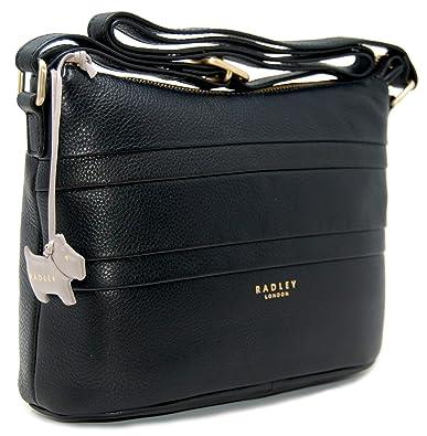 Radley Zip Top Across Body Bag  Berwick Street  Black Leather ... 87049056f784f