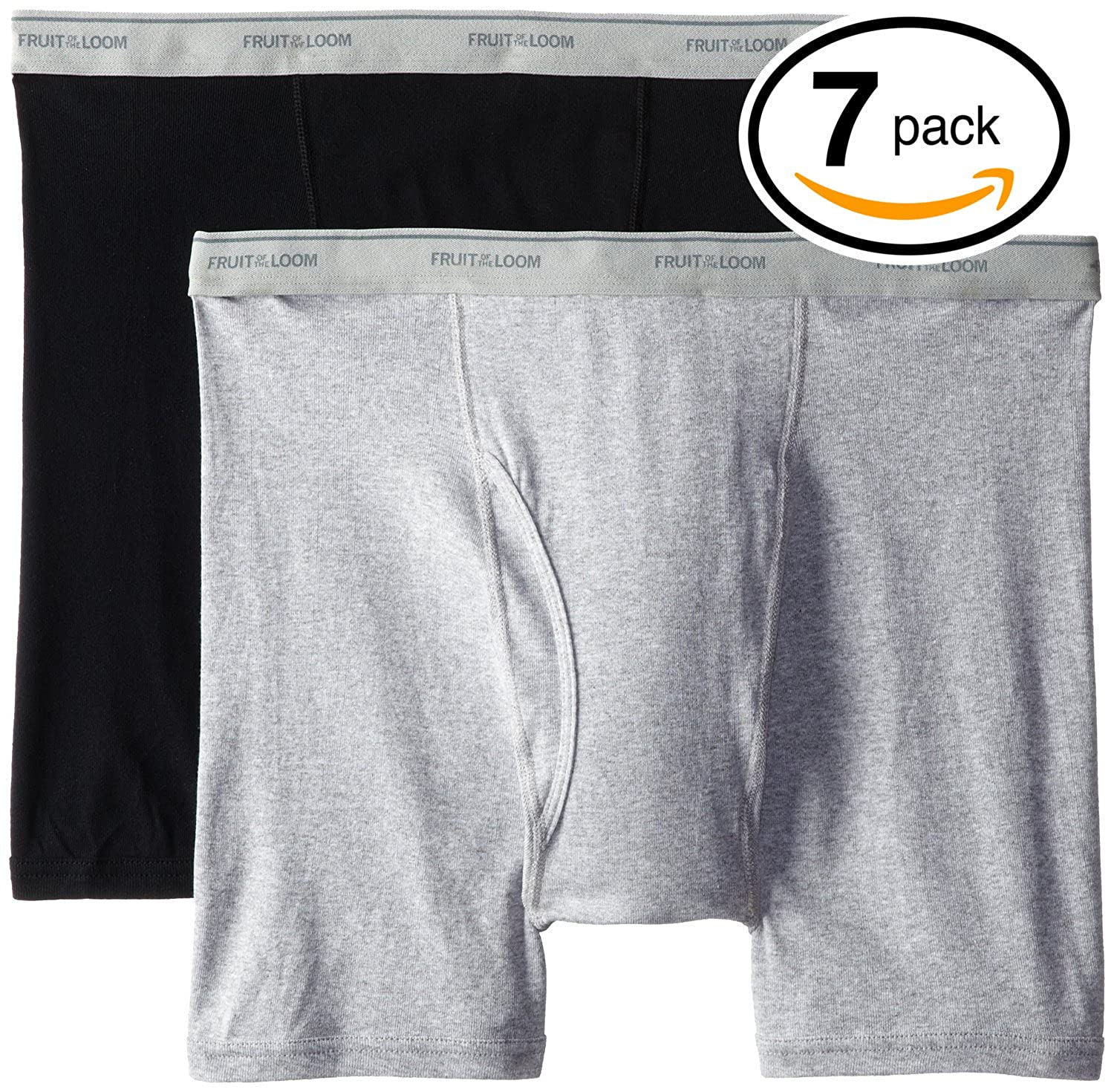Fruit of the Loom Mens Super Value Stripe Solid Boxer Brief(Pack of 7) at Amazon Mens Clothing store:
