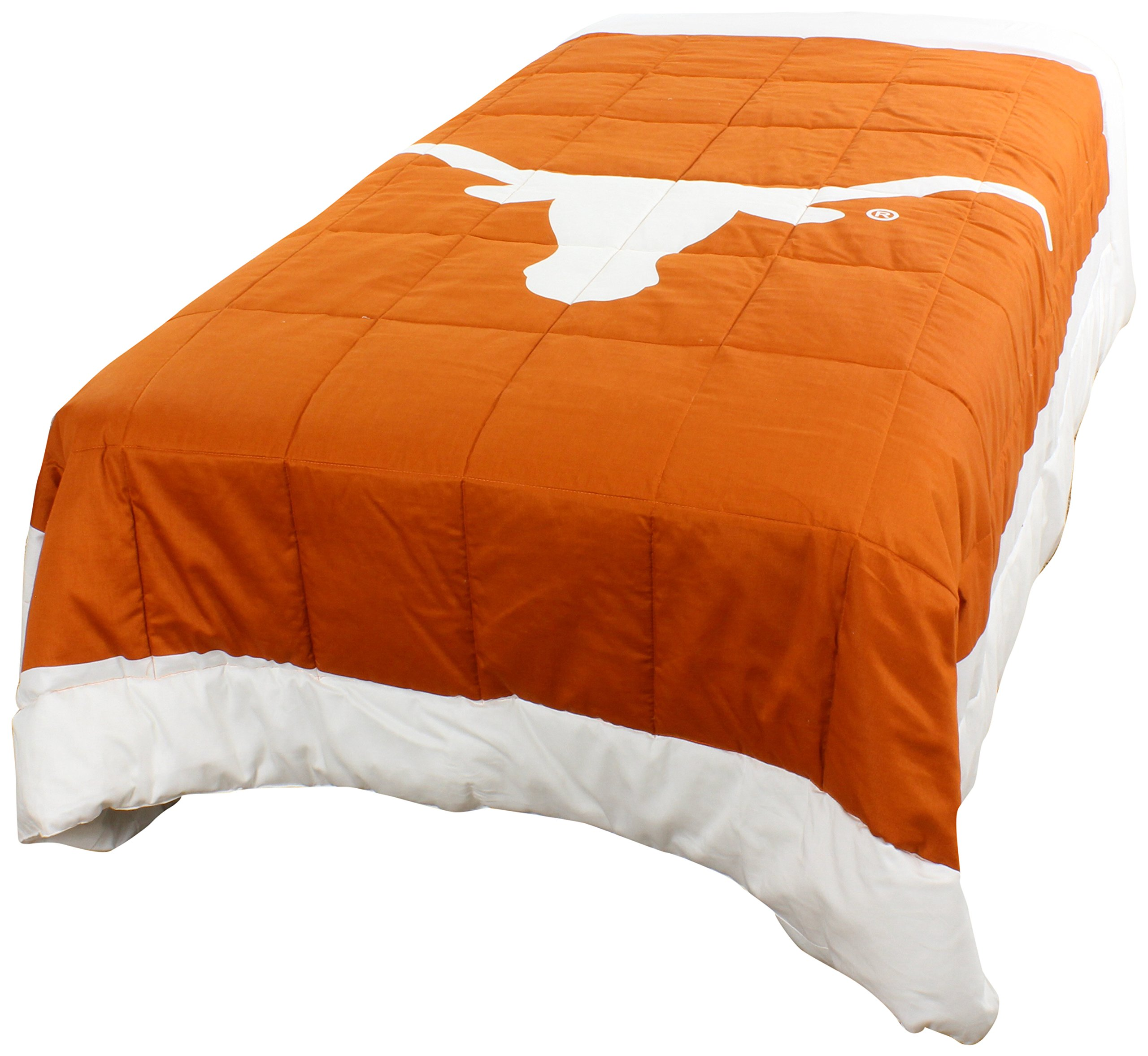 College Covers Texas Longhorns 2 Sided Reversible Comforter, Queen