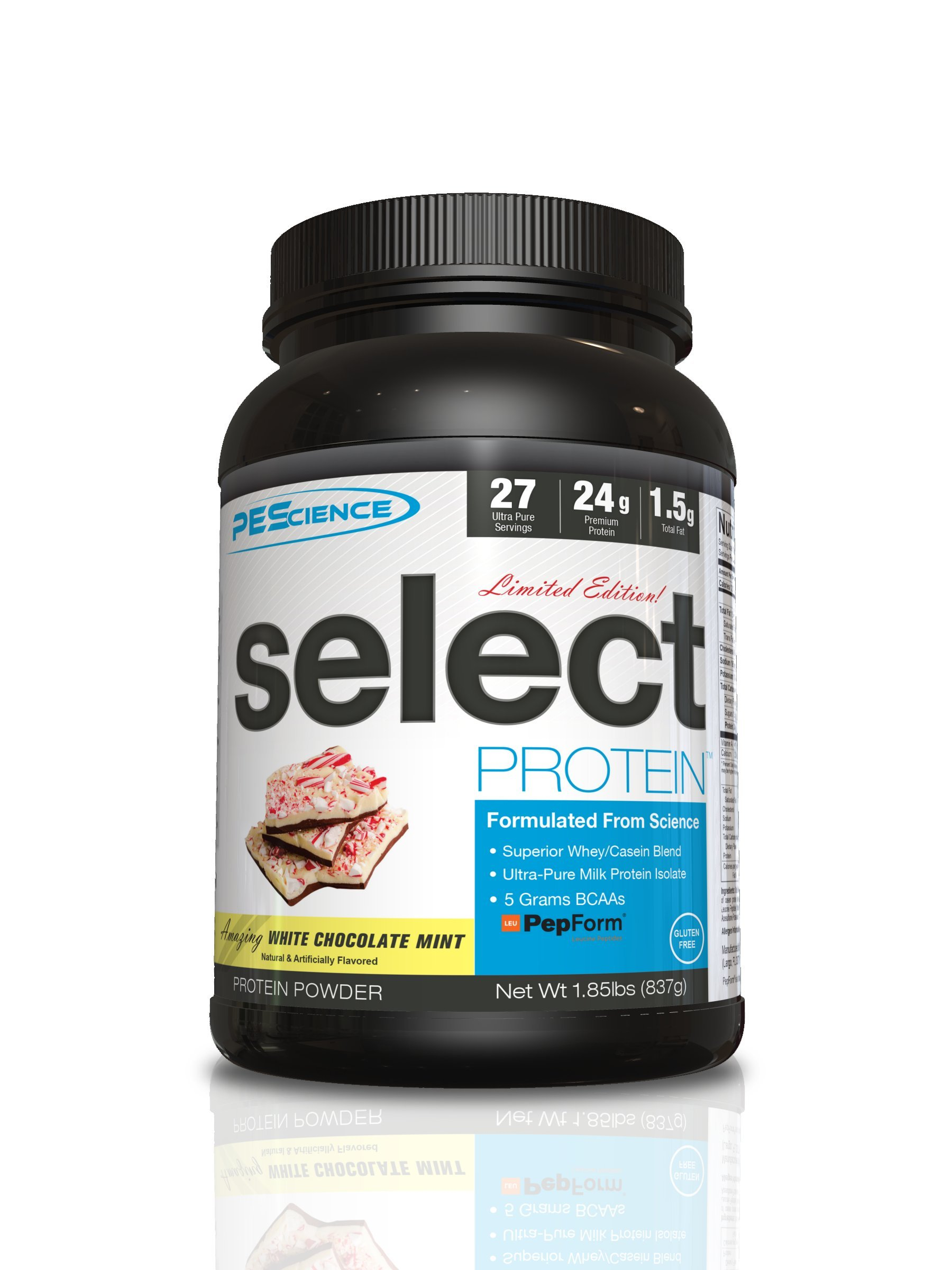 PEScience Select Protein Powder, White Chocolate Mint, 27 Serving, Whey and Casein Blend by PEScience