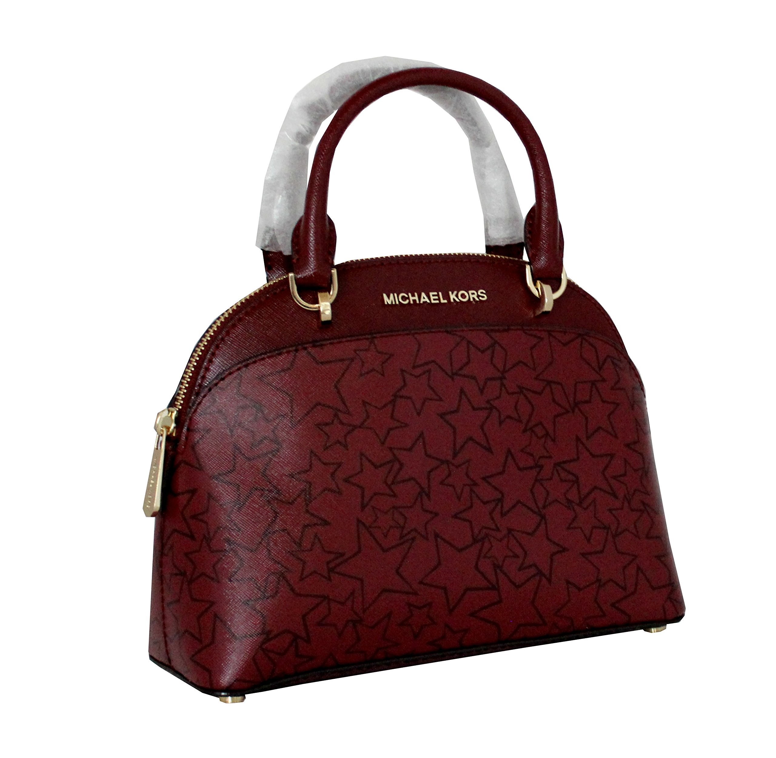MICHAEL Michael Kors EMMY Women's Shoulder Handbag SMALL DOME SATCHEL (Mulbry/plum) by MICHAEL Michael Kors