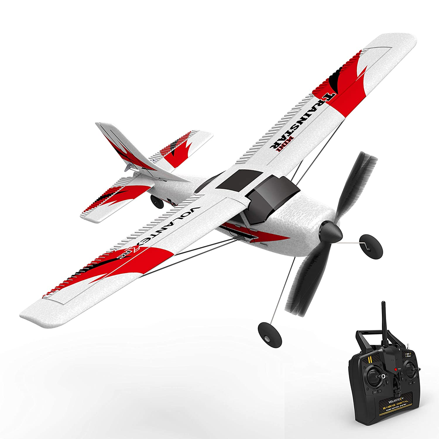 VOLANTEXRC RC Airplane Remote Control Airplane TrainStar Mini 2 4GHz RC  Plane Ready to Fly with 2 4GHz Control, 6-Axis Gyro Easy to Fly for  Beginners