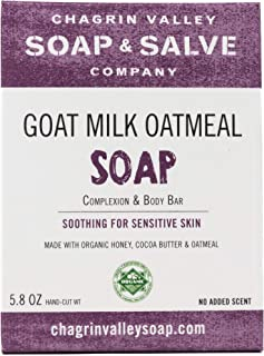 product image for Organic Natural Soap Bar - Goat Milk Honey Oatmeal - Chagrin Valley Soap & Salve