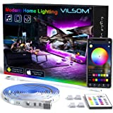 TV LED Backlight 14.3ft, APP Control Music Sync for 65-75in TV/PC with Remote, RGB 5050 USB LED Strip Lights for TV…