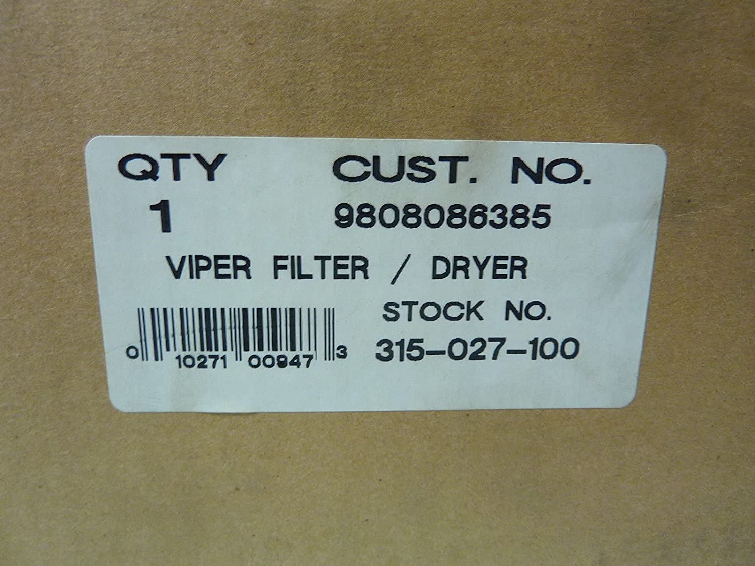 Emerson 315-027-100 Viper Filter Drier
