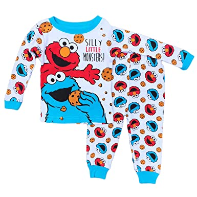 93200cc63 Image Unavailable. Image not available for. Color: Sesame Street Elmo Cookie  Baby Boys Cotton Pajama Set (12 Months)