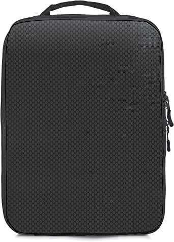 Magictodoor Dual Sided Compression Packing Cubes Separate Dirty Clothes Organizer (Black,1 Set)
