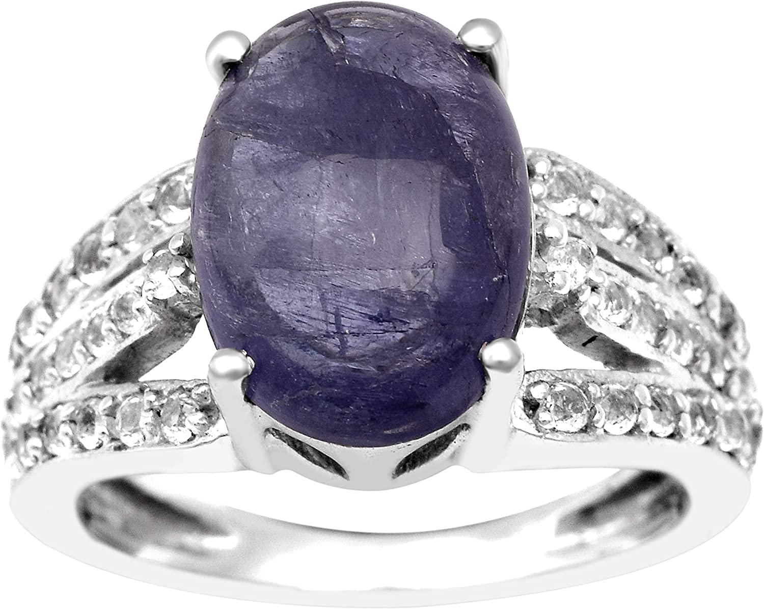 Diamond Gem Stone Ring Sterling Silver 92.5/% Ring Rhodium Polished Hand Made Ring FREE SHIPPING