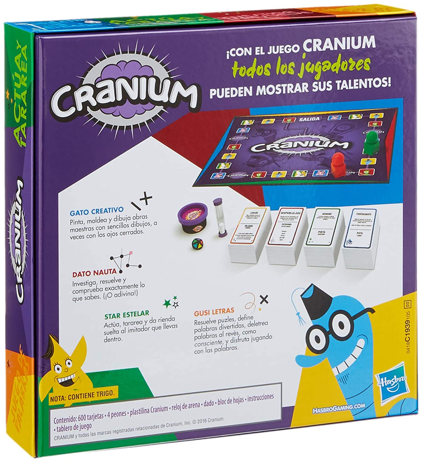Amazon.com: Hasbro Gaming Cranium, Multicoloured (c1939105): Toys & Games