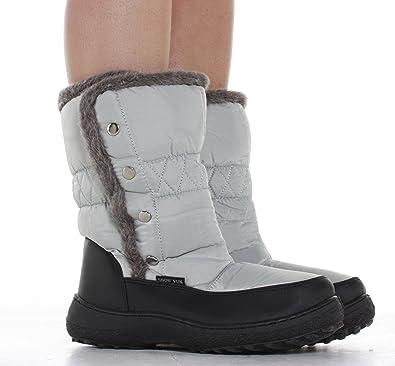 Pluie Apres Fourrées Neige Femme Caoutchouc Ski Bottes Chaussures De FwUEaa