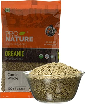Pro Nature 100% Organic Cumin (Whole) 100g