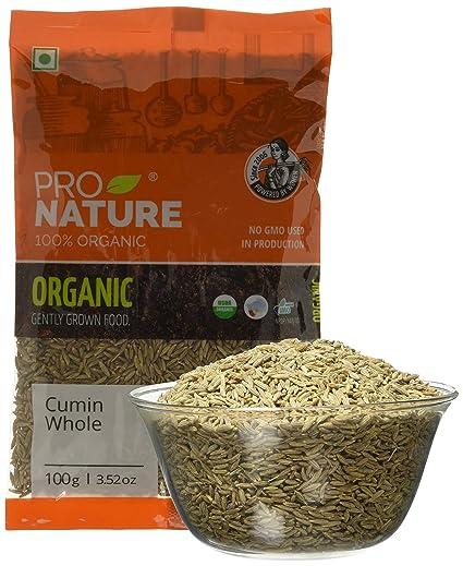 Pro Nature 100% Organic Cumin (Whole) 100g